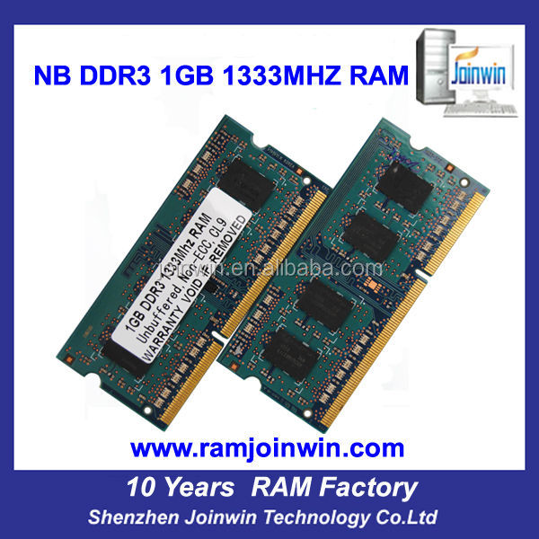Tested lifetime warranty 64mb*8 1gb wholesale ddr3 ram for laptop