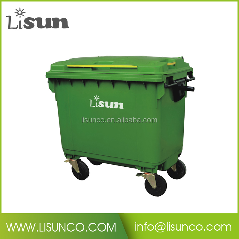 Outdoor plastic litter bin dustbin garbage can wheels for sale