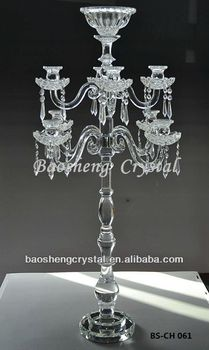 Wholesale Tall Centerpiece, 9 Arms Crystal Candelabra Wedding (BS-CH061)