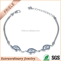 14k white gold plated silver bracelets 925 sterling silver material fashion bracelets