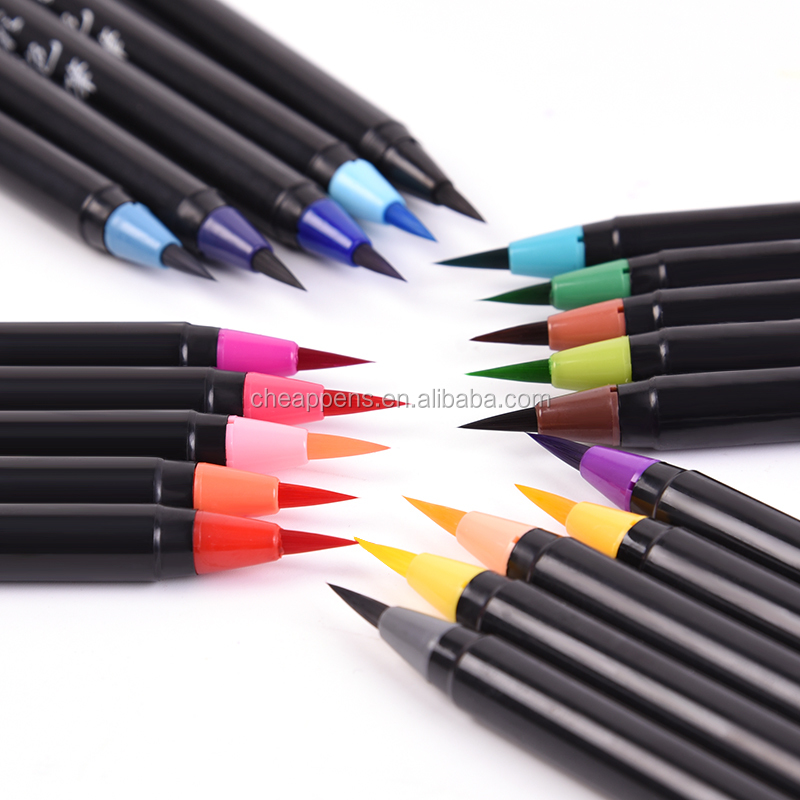 High quality 12 watercolors art brush marker for art drawing OEM