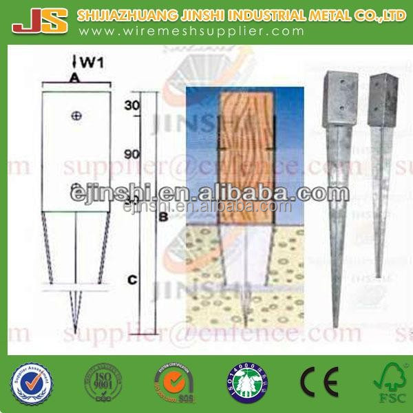 Hot dipped galvanzed Deformed Steel Bars Square pointed Ground Screw Pole Anchor
