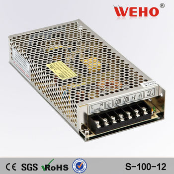 High efficiency IP20 110v 220v ac dc smps 8.5a 12v 100w power supply