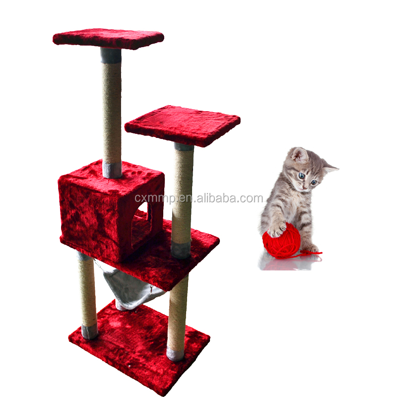 pet product Promotional wholesale cat tree scratching post