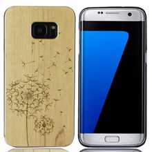 New arrival newest wood phone cases mobile cases for samsung s7 edge wooden back cover