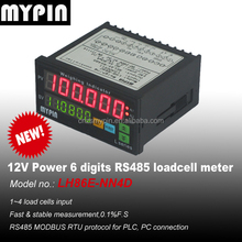 12V DC powered 6 digits RS485 Loadcell controller