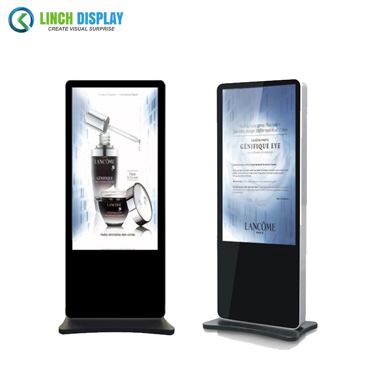 98 inch network touch screen floor stand advertising player with motion sensor