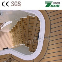 PVC material Measure Synthetic Wood Decking/Flooring 33kg/25m/roll