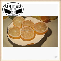 10pc artificial Y Lemon slices Lifelike Decorative Artificial Plastic Fake fruit