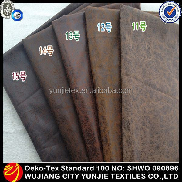 2016 High Quality Polyester Microfiber Hot Stamping Suede Fabric