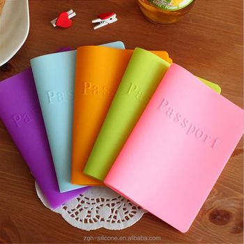 High quality foldable silicone passport protect case