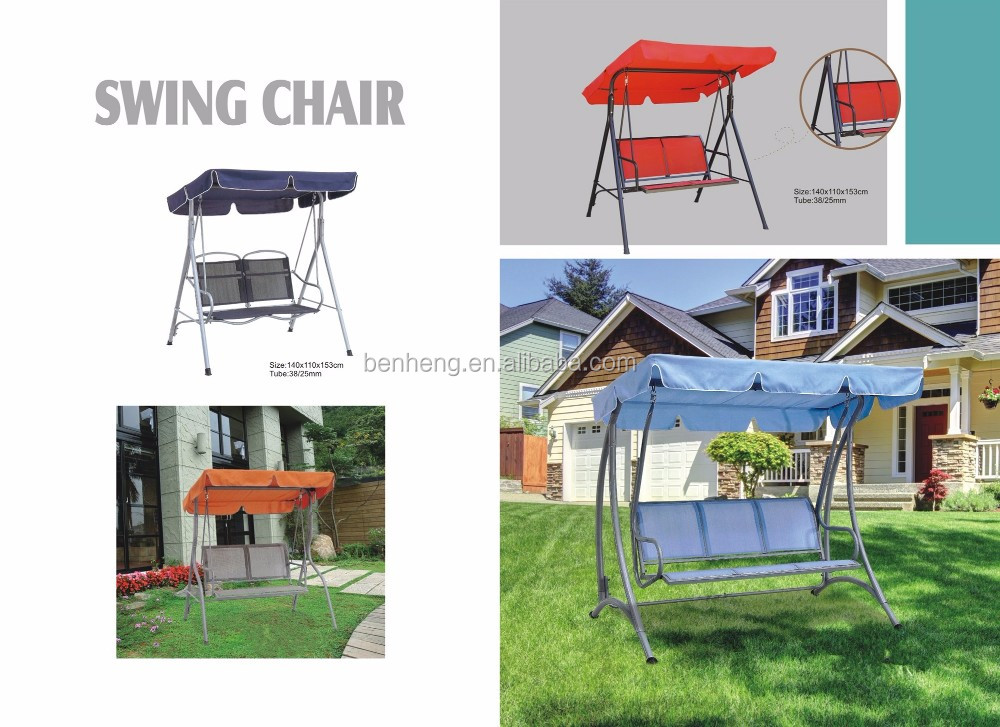 2 Person Outdoor Porch Swing Hammock with Steel Frame and Adjustable Tilt Canopy Metal Garden Swing Chair