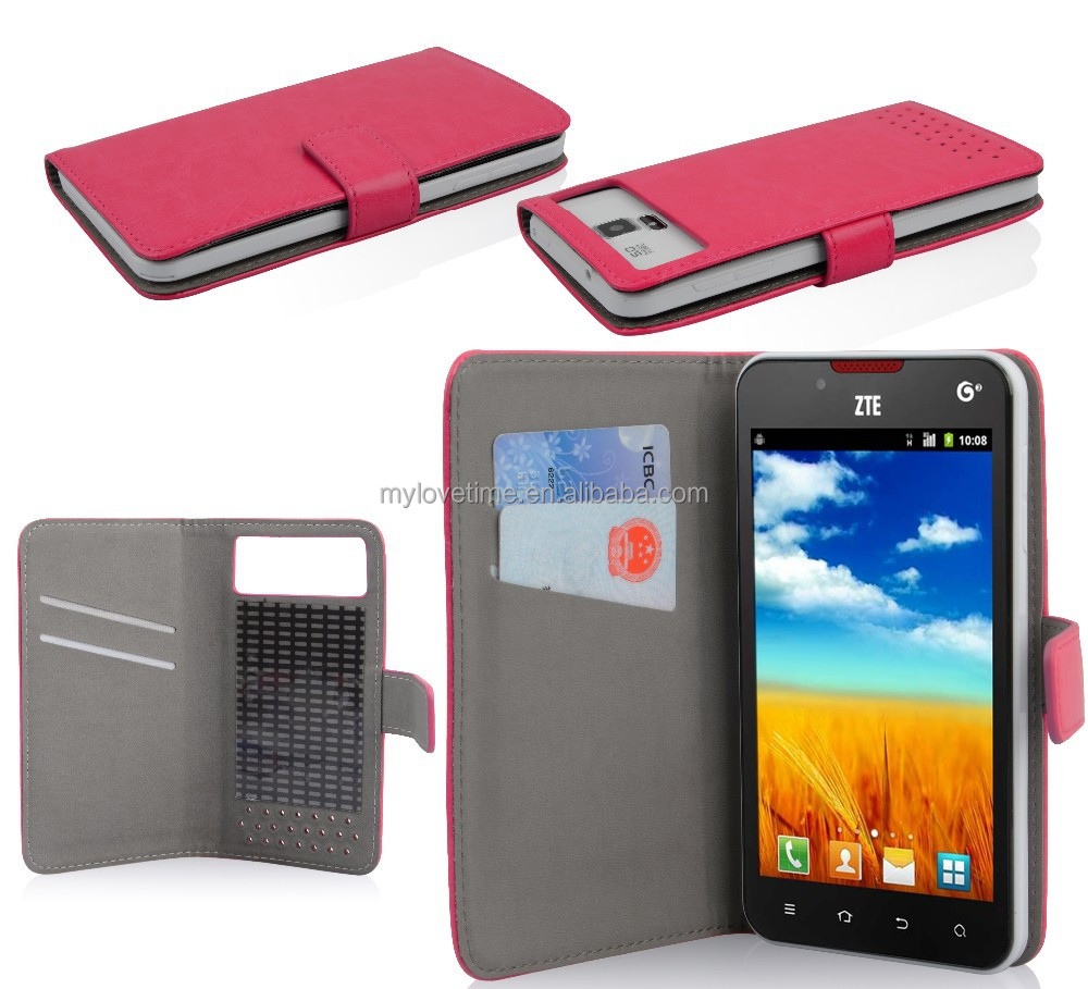 2015 factory new arrival pu leather universal mobile phone flip cover