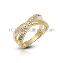 14K/18K gold plating wedding ring with CZ