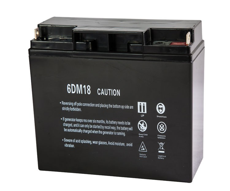 12V 18Ah Gosline Generator Battery, Maintenance Free Sealed Lead Acid Battery