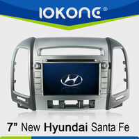7'' HD GPS navigation Touch screen Car DVD player for New Hyundai Santa Fe 2012
