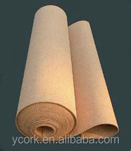 adhensive cork roll, cork board roll, cork sheet roll