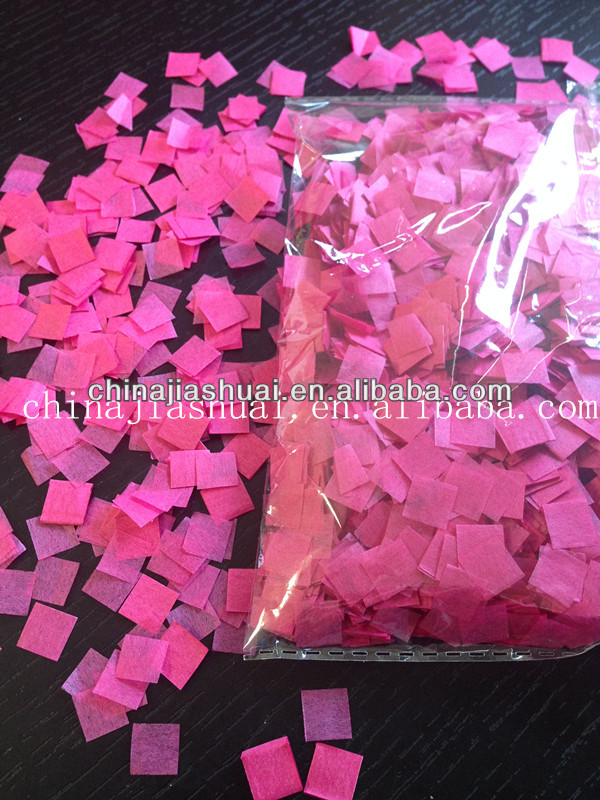 confetti wholesale/red square paper/confetti cannon