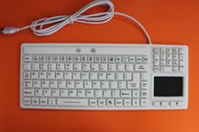Silicone Industrial Keyboard with touchpad Mini Flexible Keyboard with LED Light