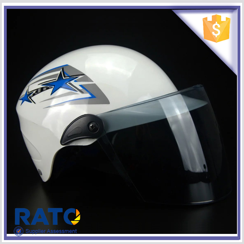 New design white open face motorcycle helmets for sale cheap