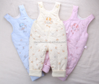 100% winter organic cotton baby clothes baby footed pajamas