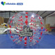 Stripes soccer bubble body zorbing bubble football tpu inflatable bubble ball