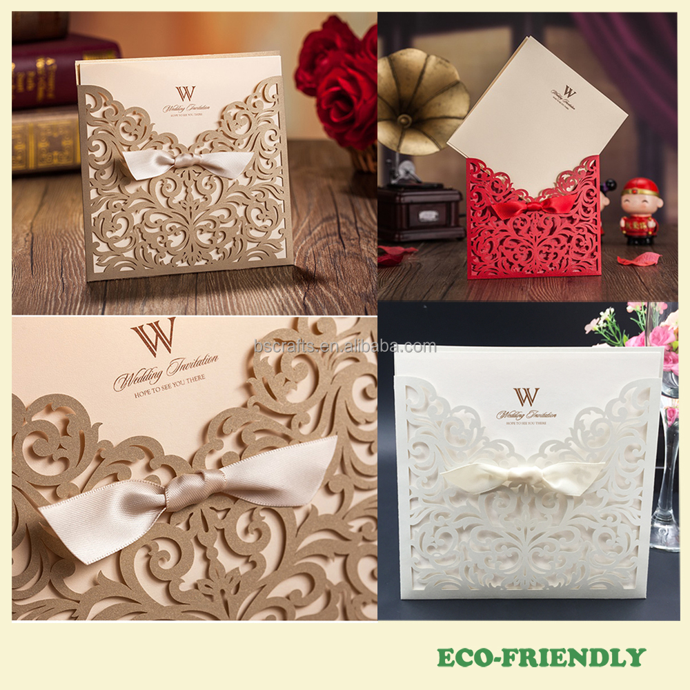 Luxury Elegant Laser Cut Wedding Invitations