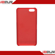 Ultra-thin translucent frosted cases for iphone 5c following five generations red