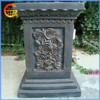 Stable fiberstone/ fiberglass flower pot stand decorative pillar design