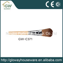 High quality wood handle personalized makeup brushes