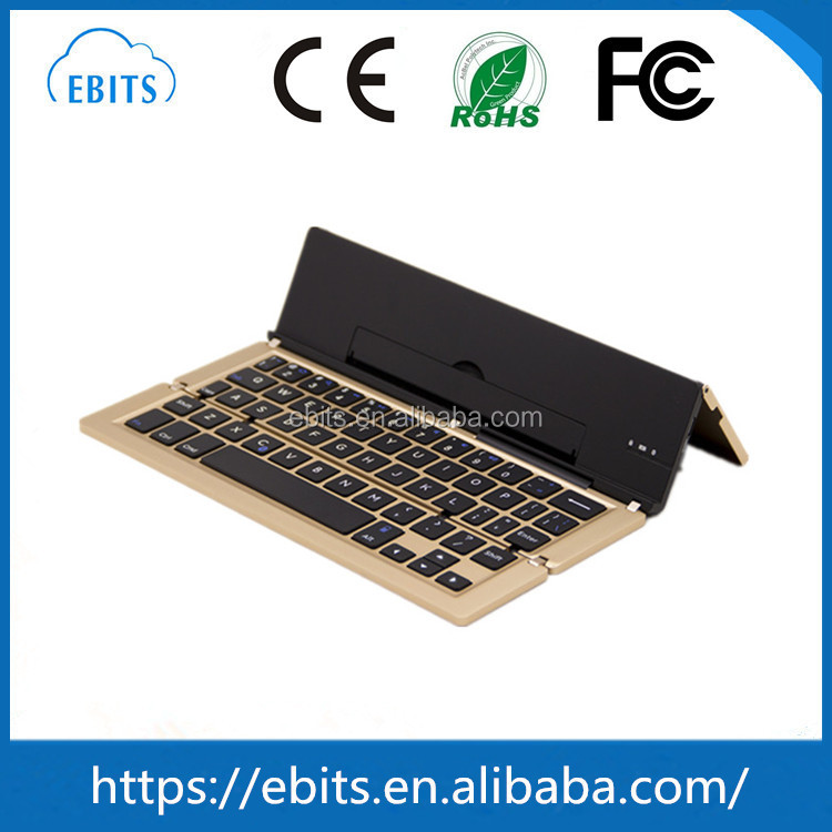 Multi-language Mini Smart Bluetooth 3.0 Keyboards Aluminum+PC Portable Folding Wireless Keyboard
