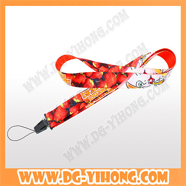custom cheap printed mobile phone holder lanyard for iphone 6 case