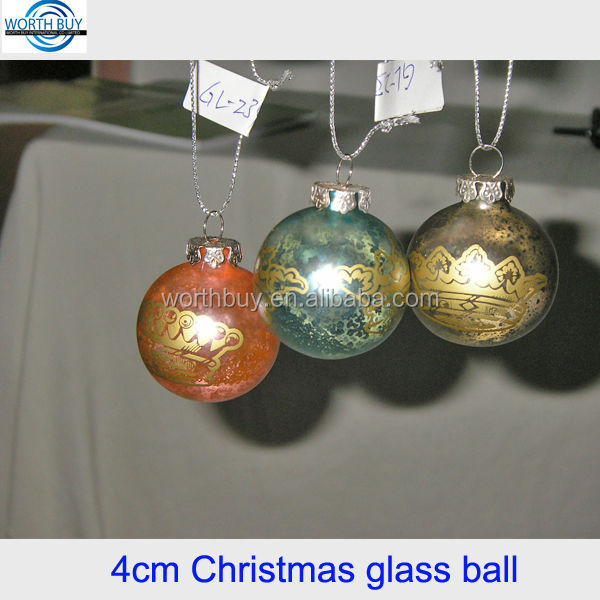 Hot sale in North America 4cm Christmas glass ball, 100 wholesale clear glass christmas ball ornaments manufacturer