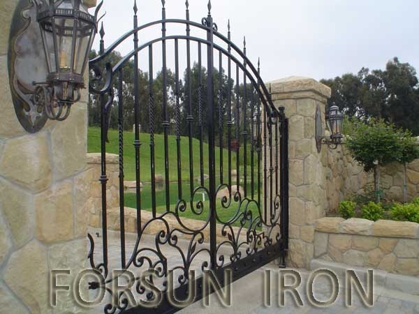 Artistic wrought iron gate models