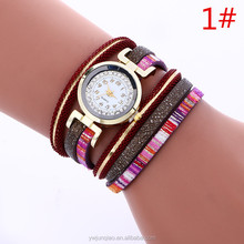 Colorful Vintage Women Leather Wristwatches Magnetic Bracelet Watch Fashion Vogue Ladies Watch