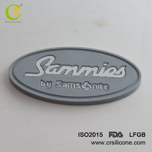 Custom 2D 3D Embossed Logo PVC Patch For Clothing, High Quality Rubber Patch Sewing Line For Garment