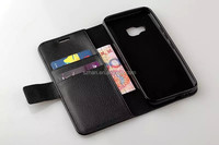 New Lychee grain + TPU back cover Wallet Leather Case for HTC One M9