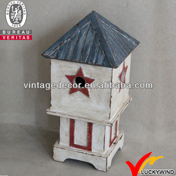 Luckywind Antique garden wooden bird house