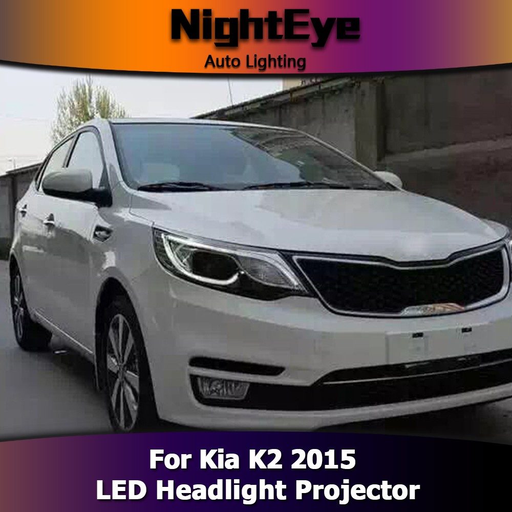 NightEye Car Styling Head Lamp for K2 Headlights 2015 New K2 Rio LED Bulb Replacement