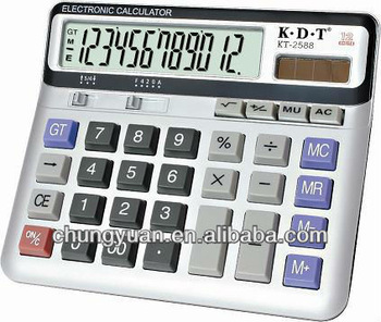 12 digits crystal bling silicone rubber calculator KT-2588