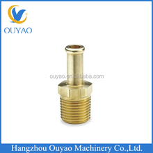 Brass male threaded rod coupling