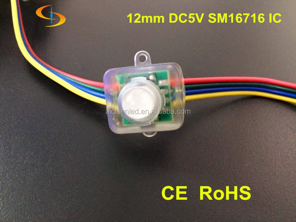dmx led pixel string ws2801 12mm square DC5V