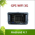 Pure Adnroid 4.1 VW POLO Car DVD GPS Player 7inch Capacitive and Multi-touch Screen 3G Wifi Radio