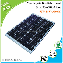 55W 18V Mono Solar Module Panel with RoHS, TUV Certificates