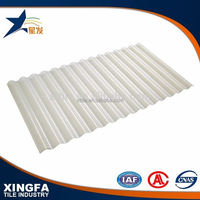 High quality good daylighting transparent corrugated roofing sheet/ clear plastic roofing sheet