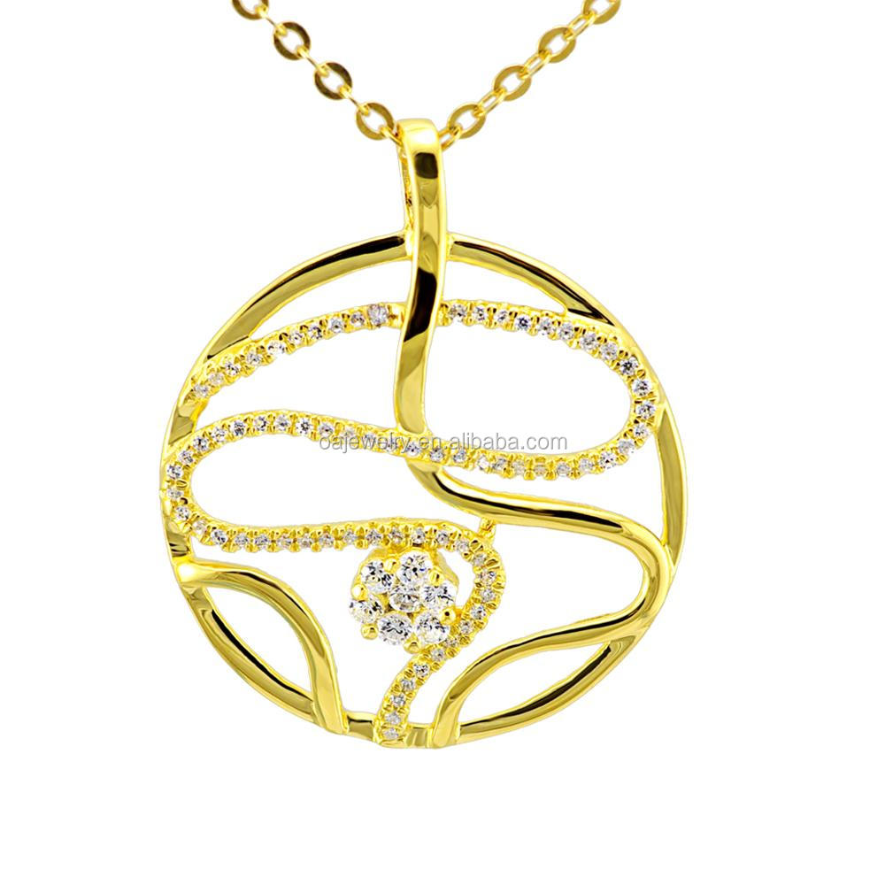 OnlyArt jewelry charm pendant for women best quality lady's pendant with 18k gold plated