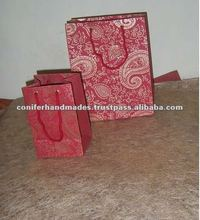 Paisley Printed Handmade Paper Bags for Gifting