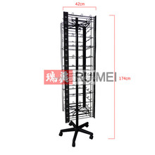 Floor standing Movable Metal Cell Phone Accessory Display Rack
