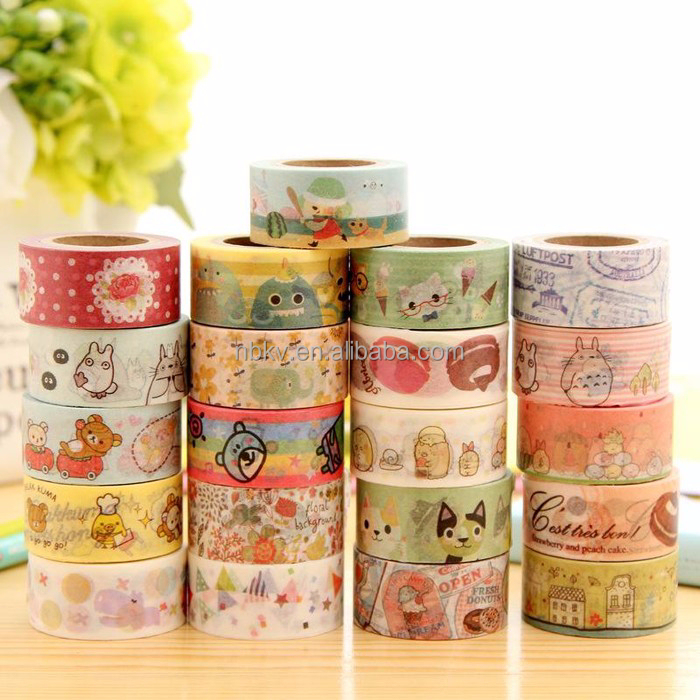 15mm x 10m Washi paper Sticky Adhesive Sticker Decorative masking Tape