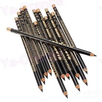 12pcs Black Eyeliner Eyebrow Pencil with wholesale price